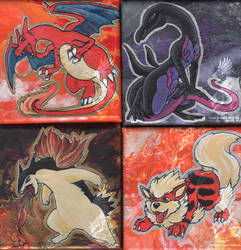 Pokemon paintings by YamiGriffin