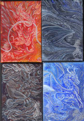 Fluid Acyrlic paintings by YamiGriffin