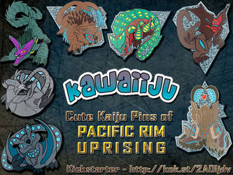 All Kawaiiju Pins Available! by YamiGriffin