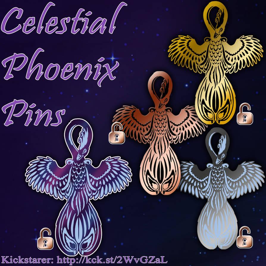 Phoenix Pin Kickstarter - All Pins Unlocked by YamiGriffin
