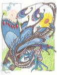 Faerie dragon, colored