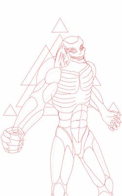 an in progress piece