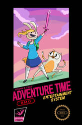 Fionna and Cake NES Mock Poster by Bloodedskull19
