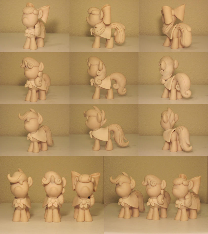 Cutie Mark Crusaders 2 WIP Commission Sculpts by Blackout-Comix