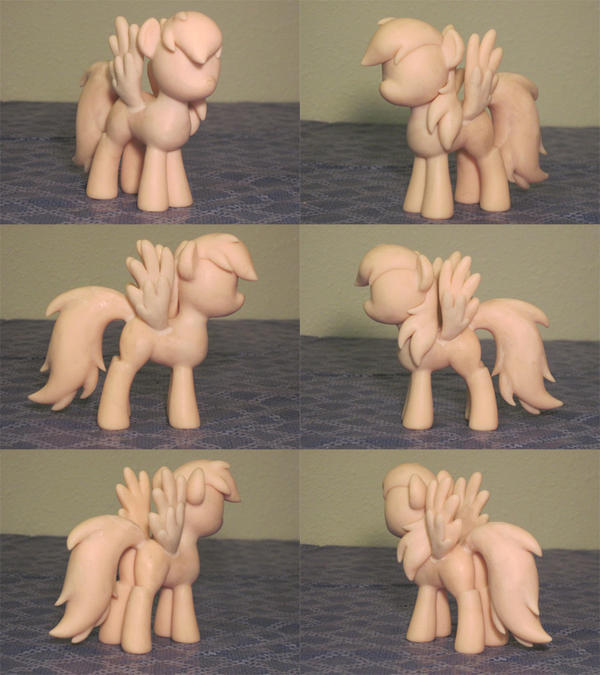 Rainbow Dash My Little Pony Custom Sculpture WIP by Blackout-Comix