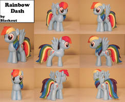 Rainbow Dash MLP FiM Sculpture Commission by Blackout-Comix