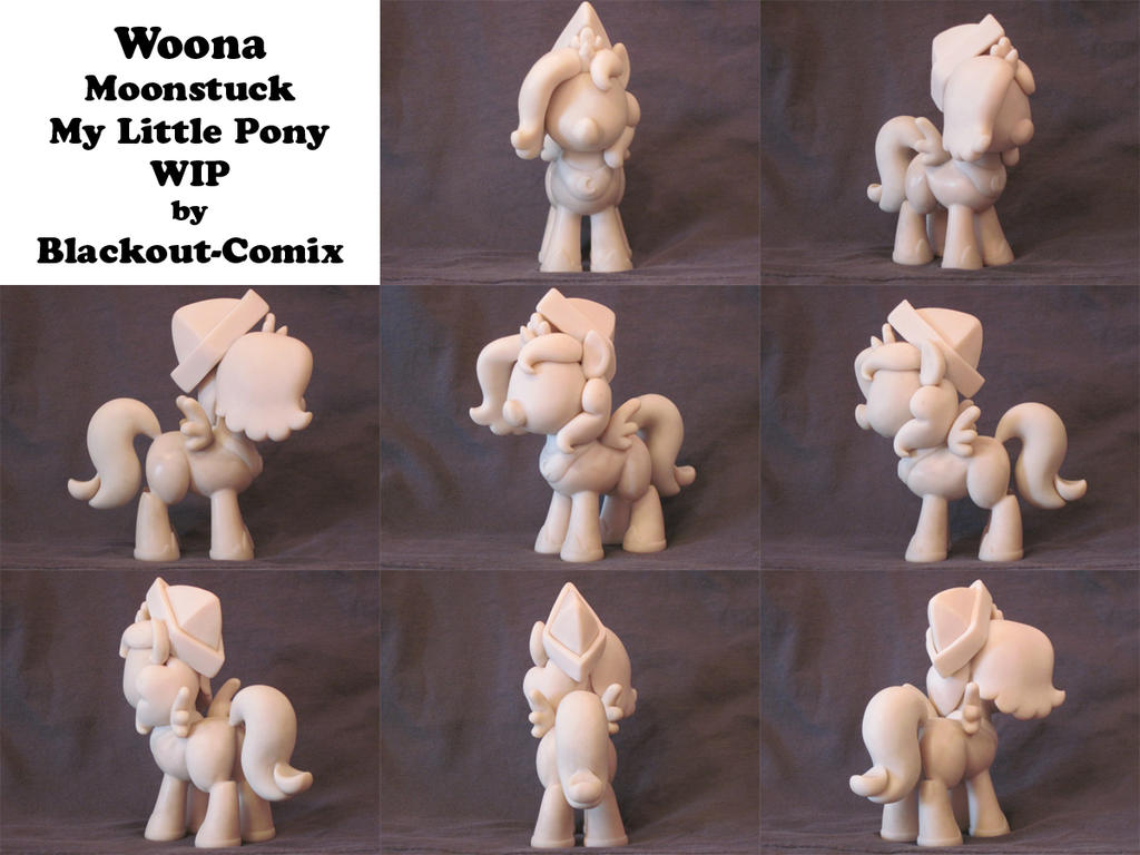 Woona Moonstuck MLP Custom Sculpture WIP by Blackout-Comix