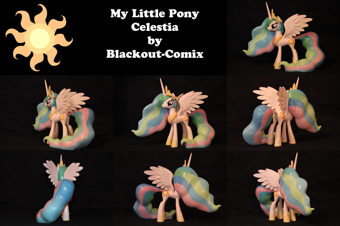 Celestia My Little Pony FiM Sculpture by Blackout-Comix