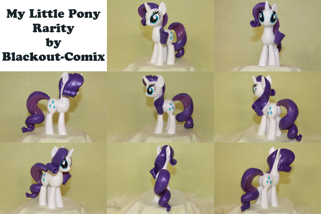 Rarity My Little Pony Sculpture by Blackout-Comix