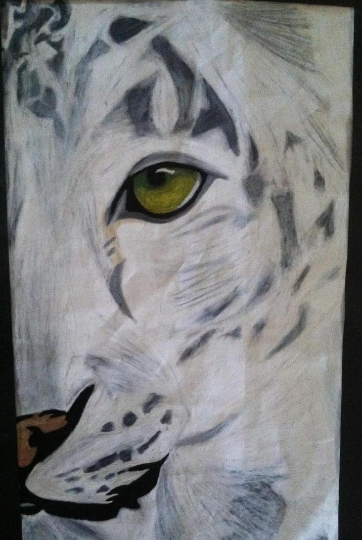 The Leopard of Snow by Akarazu-Feline