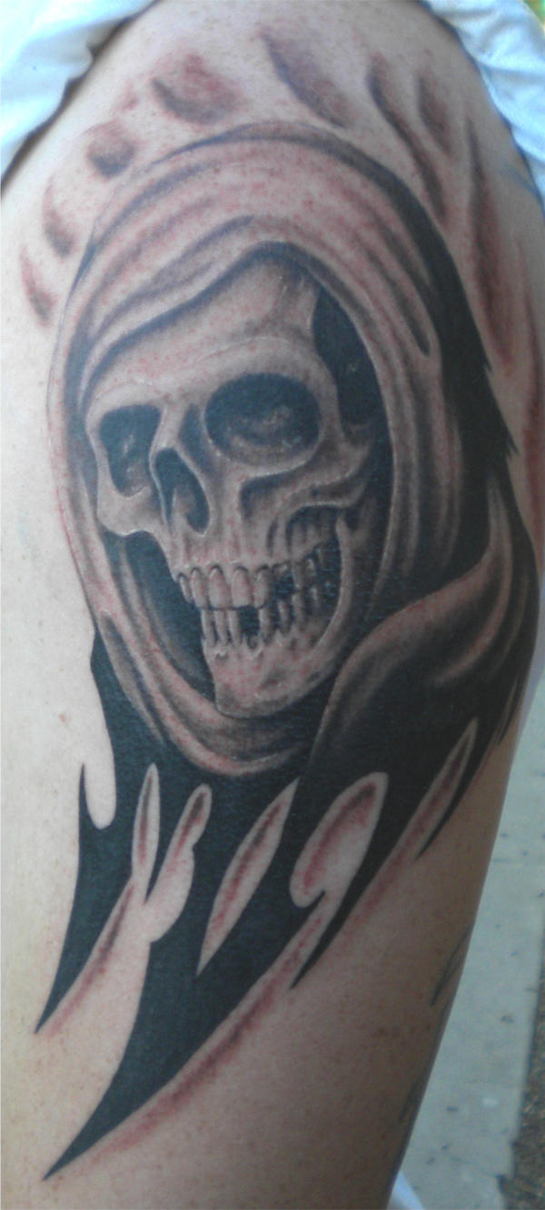 tribal reaper? why not? by tattoos-by-zip on DeviantArt