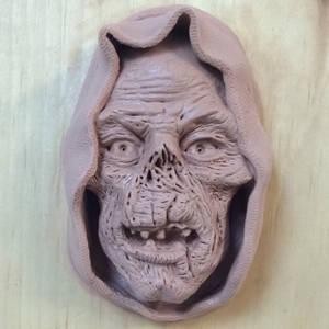 Crypt keeper sculpture