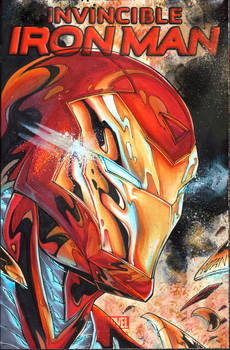 Iron Man commission on a sketchcover