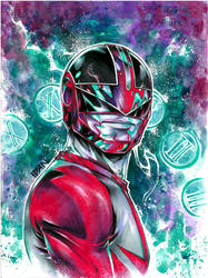 Red PowerRanger by ArtOfIDAN