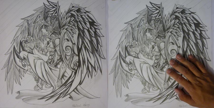 Anime dibujos a lapiz angeles - Imagui