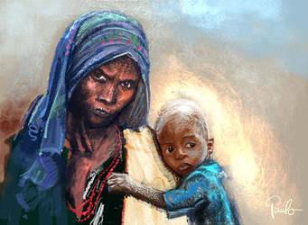 Poverty Portrait by PauloDuqueFrade