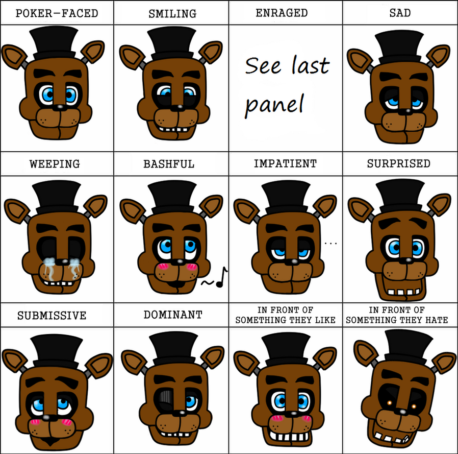the_faces_of_fazbear__expression_meme_by_xxdead_ninjaxx d8kha4s the faces of fazbear expression meme by xxdead ninjaxx on deviantart