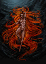 The Pheonix painting experimnetWIP by Jak-The-Drox