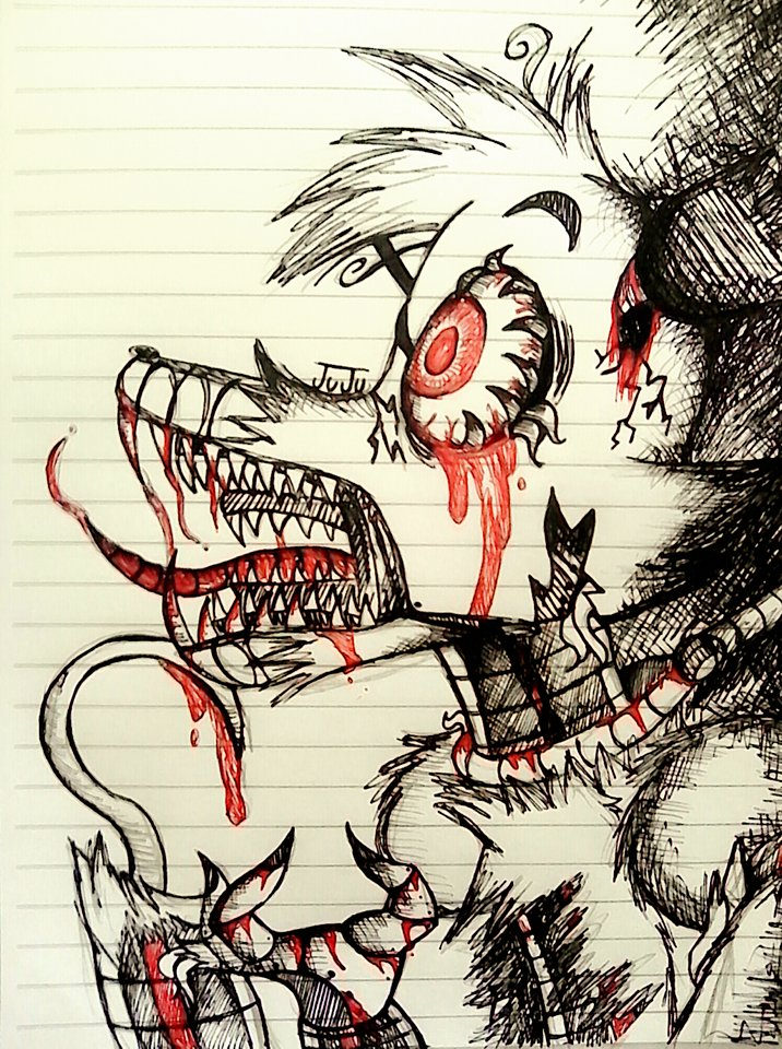 This is a picture of Shocking Nightmare Foxy Drawing