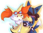 Commission: Karin and Katsu