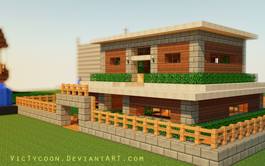 Minecraft construction 1 by victycoon on deviantart for Exemple de maison minecraft