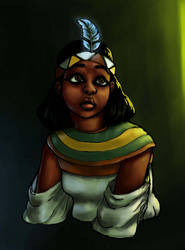 Goddess Maat listening intently.