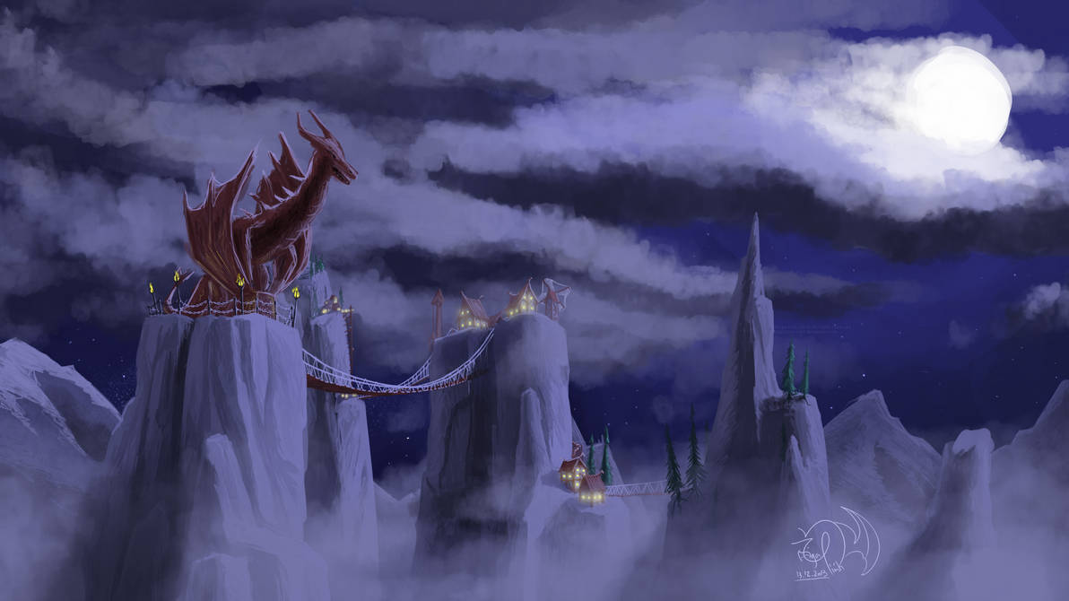 The Wyvern Peaks by xTernal7