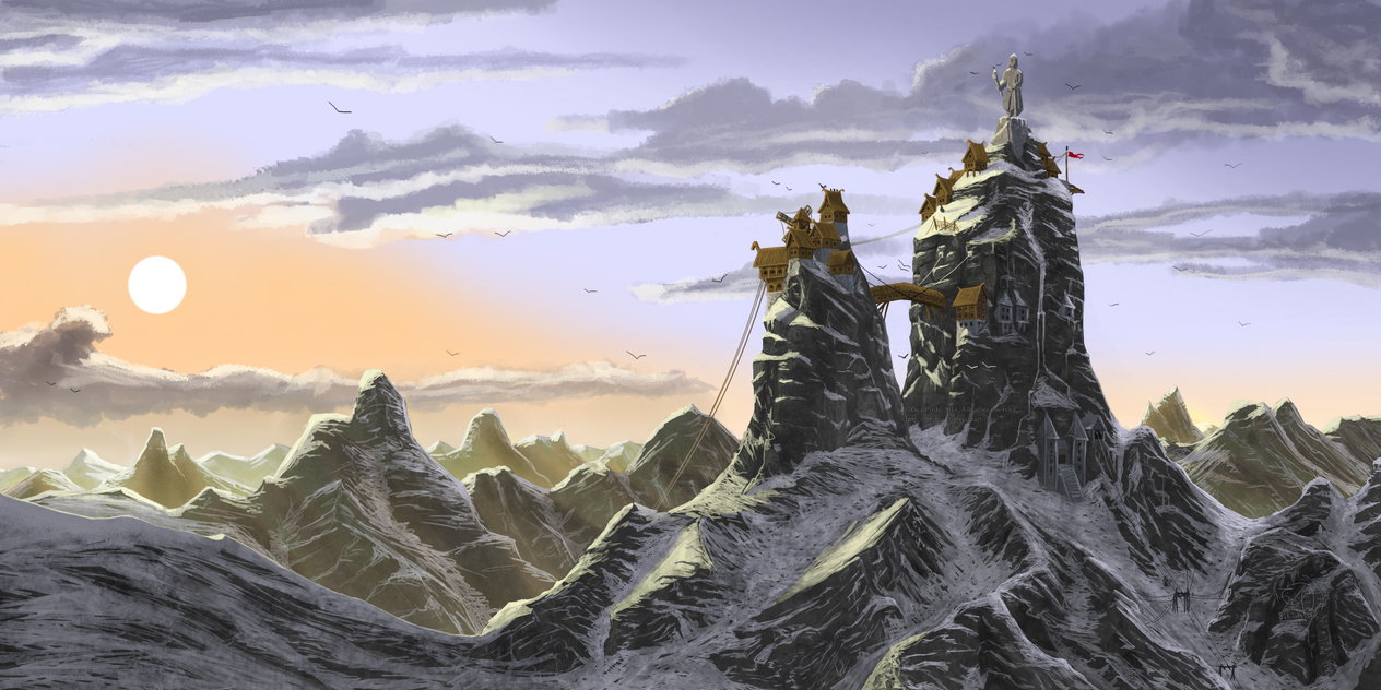 The Village on the top of the world by xTernal7