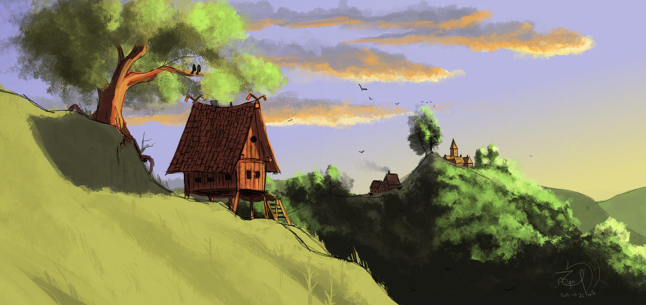 The Cottage [Speedpaint] by xTernal7