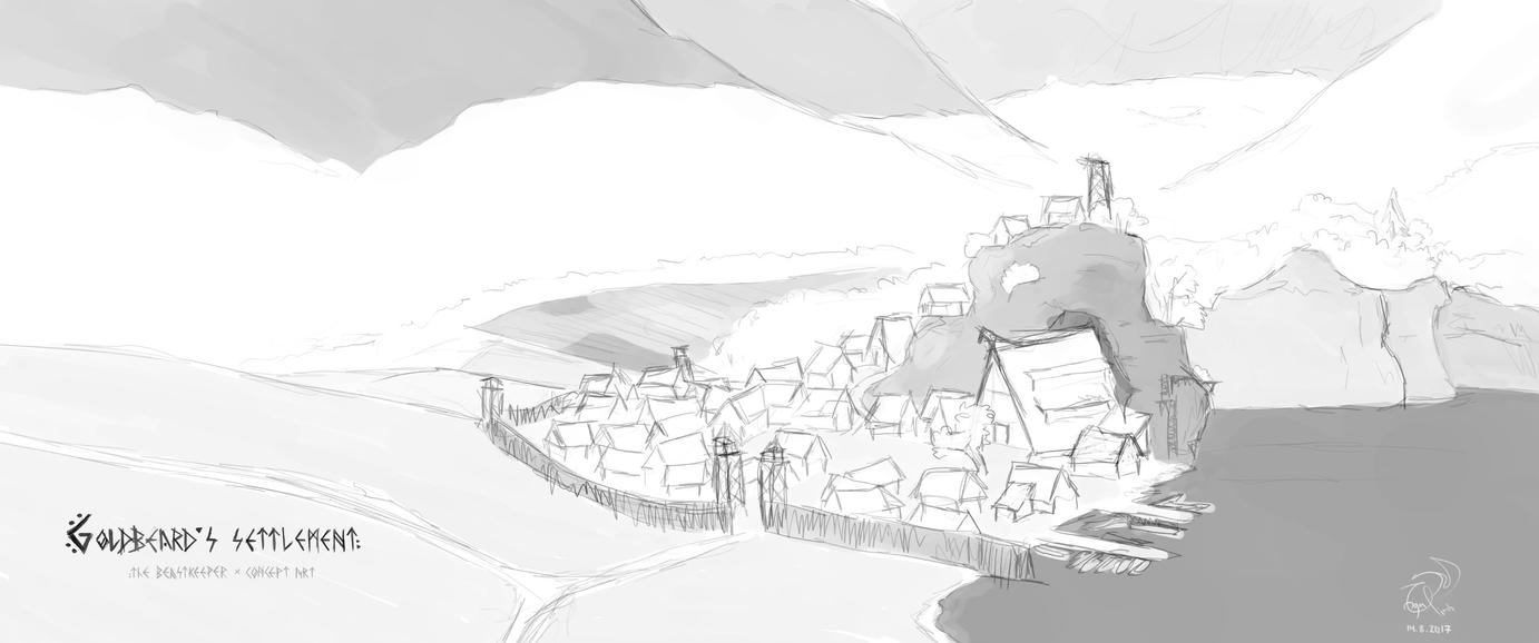 Goldbeard's settlement | sketch by xTernal7