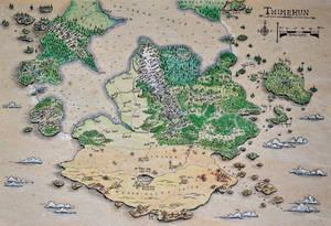 DnD world map