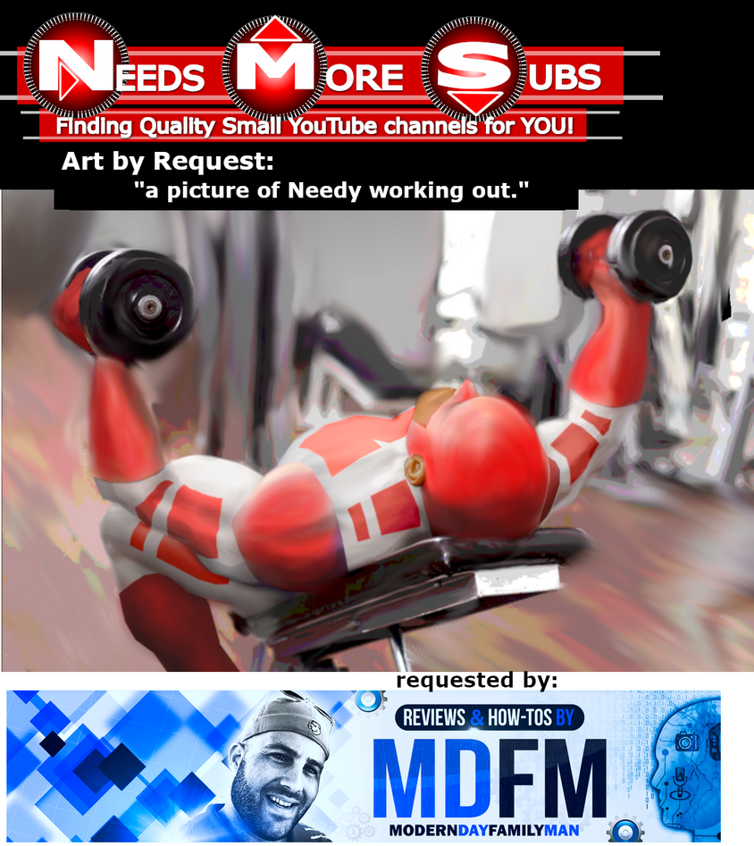 Art by Request - Captain Needy Working out by NeedsMoreSubs