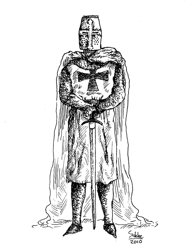 Line Drawing Knight : Templar knight drawings imgkid the image kid