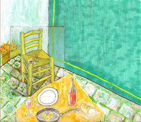 dinner with van gogh by ertanvelimatti