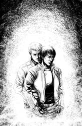 XF: RictorShatterstar - Hug 2 by okamioujou