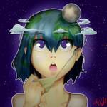 Earth-Chan by ArtGuyKai