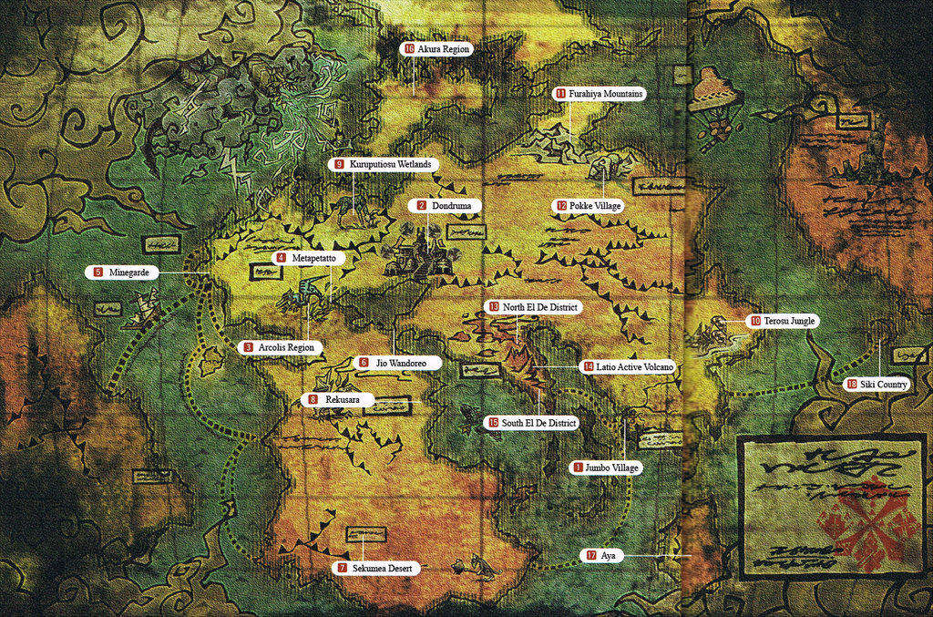 Monster Hunter Official Map By PikeStyles On DeviantArt - Official world map