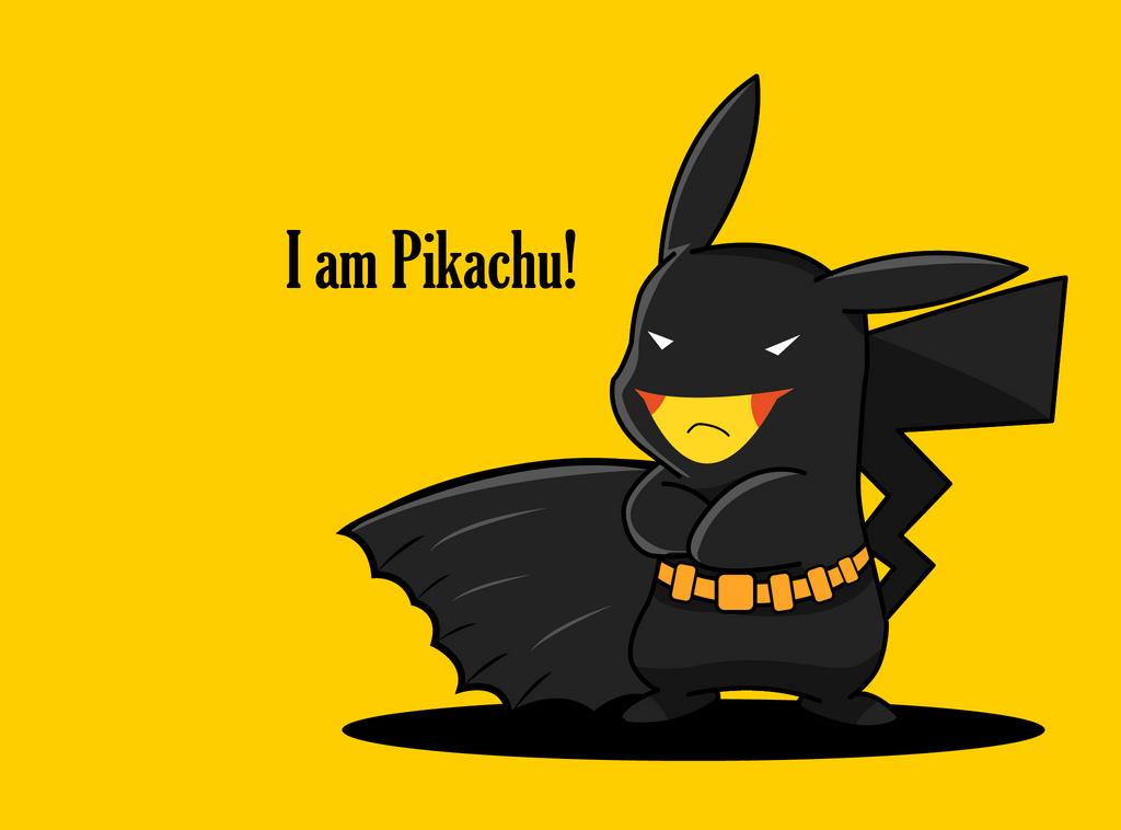 Batman x  Pikachu by fahimed