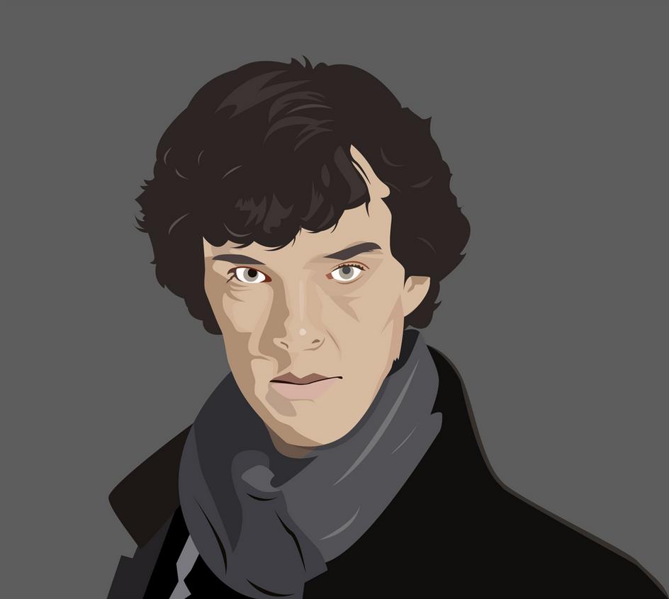 Sherlock vector by fahimed