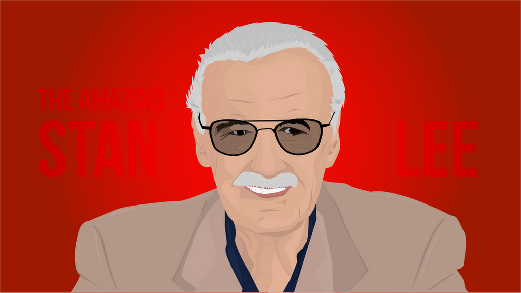 Stan lee vector illustration by fahimed