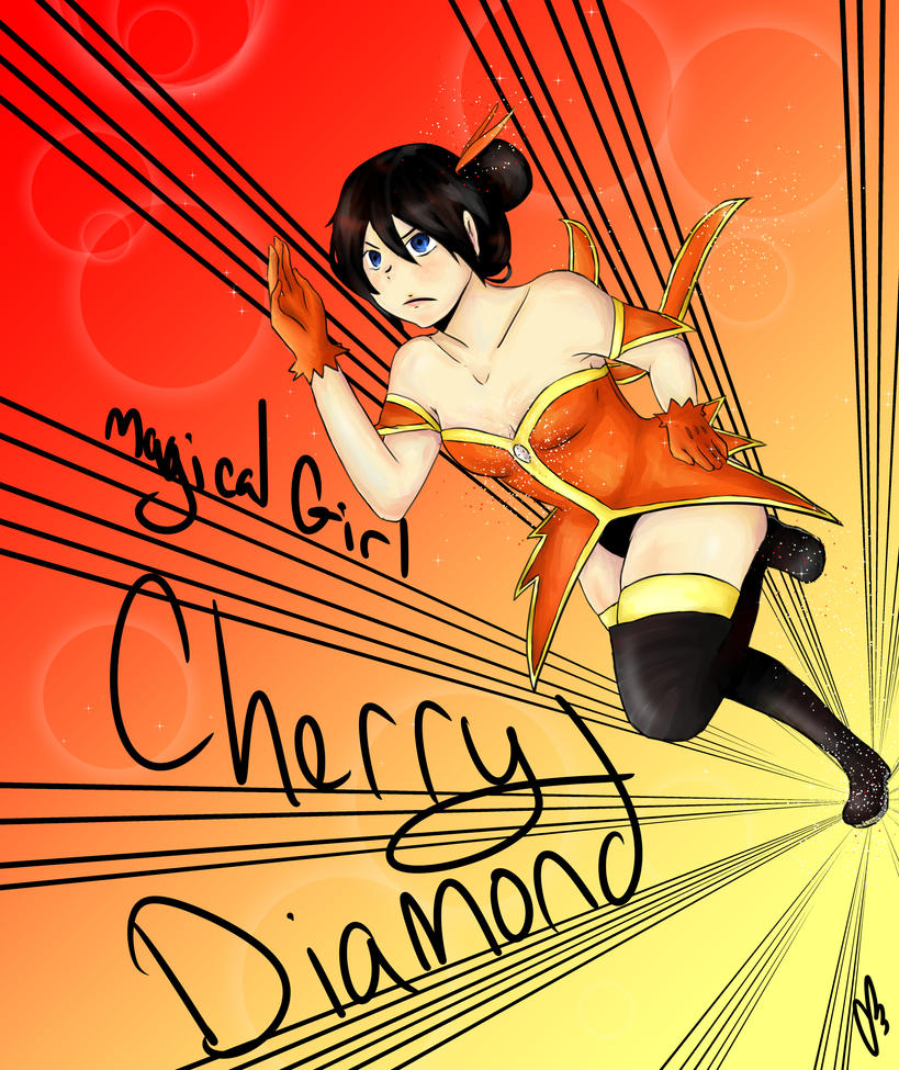 Magical Girl Cherry Diamond potential outfit by rainhorse