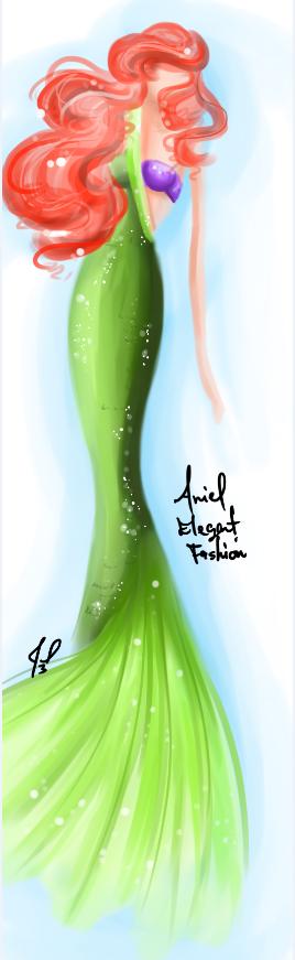 Ariel Elegant fashion fantasy by JamilSC11