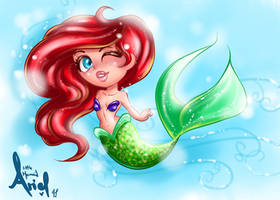 Mermaid Ariel chibi shine