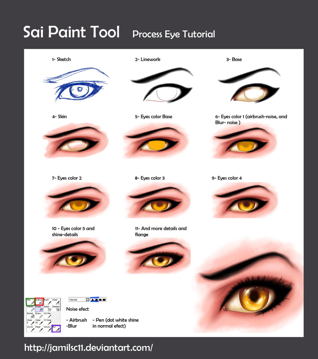 How To Draw Realistic Eyes Paint Tool Sai