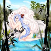 Akiko Foxy girlOC aww by JamilSC11