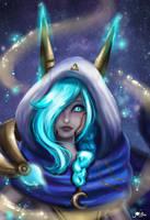 Xayah Cosmic League of Legends fanart by JamilSC11
