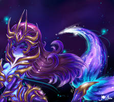 League of Legends Dark Star Nami fan art skin idea by JamilSC11