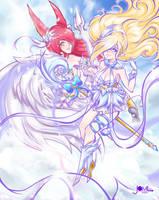 Xayah And Janna Celestial by JamilSC11