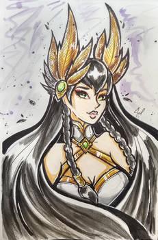 Irelia Divine Sword Traditional fan art by JamilSC11