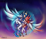 Fan art skin Star Guardian Rakan and  Xayah